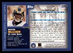 2000 Topps #288  Dexter McCleon  Back Thumbnail