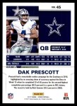 2017 Score #45  Dak Prescott  Back Thumbnail