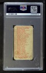 1910 Philadelphia Caramel E96  Claude Rossman  Back Thumbnail