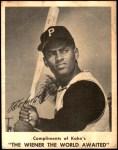 1963 Kahn's  Roberto Clemente  Front Thumbnail