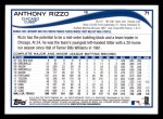 2014 Topps #71  Anthony Rizzo  Back Thumbnail