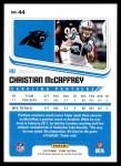 2018 Score #44  Christian McCaffrey  Back Thumbnail