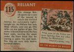 1954 Topps World on Wheels #115   Reliant Back Thumbnail