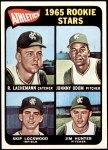 1965 Topps #526   -  Catfish Hunter / Blue Moon Odom / Skip Lockwood / Rene Lachemann Athletics Rookies Front Thumbnail