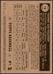 2001 Topps Heritage #19 BLK Randy Velarde   Back Thumbnail