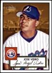 2001 Topps Heritage #22 RED Jose Vidro   Front Thumbnail
