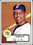 2001 Topps Heritage #196  Derrek Lee  Front Thumbnail