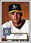 2001 Topps Heritage #53 RED Ben Grieve   Front Thumbnail
