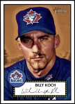 2001 Topps Heritage #64 BLK Billy Koch   Front Thumbnail