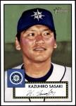 2001 Topps Heritage #118  Kazuhiro Sasaki  Front Thumbnail