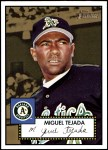 2001 Topps Heritage #62 BLK Miguel Tejada   Front Thumbnail