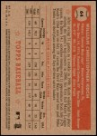 2001 Topps Heritage #64 RED Billy Koch   Back Thumbnail