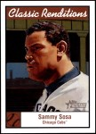 2001 Topps Heritage Classic Renditions #4 CR Sammy Sosa  Front Thumbnail