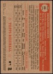 2001 Topps Heritage #53 RED Ben Grieve   Back Thumbnail