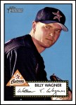 2001 Topps Heritage #69 RED Billy Wagner   Front Thumbnail