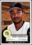 2001 Topps Heritage #322  Henry Rodriguez  Front Thumbnail