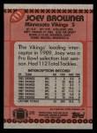 1990 Topps #111  Joey Browner  Back Thumbnail