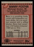 1990 Topps #174  Barry Foster  Back Thumbnail
