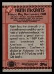 1990 Topps #399  Keith McCants  Back Thumbnail