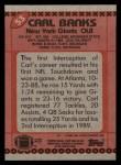 1990 Topps #53  Carl Banks  Back Thumbnail