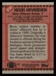 1990 Topps #236  Kevin Haverdink  Back Thumbnail