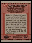 1990 Topps #334  Cortez Kennedy  Back Thumbnail