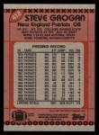1990 Topps #418  Steve Grogan  Back Thumbnail