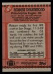 1990 Topps #89  Robert Drummond  Back Thumbnail
