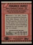 1990 Topps #429  Maurice Hurst  Back Thumbnail