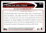 2012 Topps Update #72  Carlos Beltran  Back Thumbnail