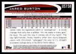 2012 Topps Update #158  Jared Burton  Back Thumbnail