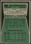 1975 Topps #315  Ted Hendricks  Back Thumbnail