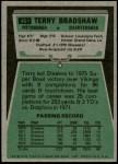 1975 Topps #461  Terry Bradshaw  Back Thumbnail