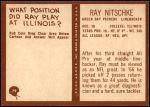 1967 Philadelphia #79  Ray Nitschke  Back Thumbnail