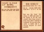 1967 Philadelphia #129  Bob Scholtz  Back Thumbnail