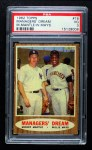 1962 Topps #18   -  Mickey Mantle / Willie Mays Managers' Dream Front Thumbnail