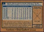 1978 Burger King #8  Don Gullett  Back Thumbnail