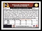 2008 Topps #55  Willie Parker  Back Thumbnail