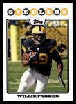 2008 Topps #55  Willie Parker  Front Thumbnail