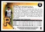 2010 Topps #26  Zach Duke  Back Thumbnail