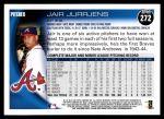 2010 Topps #272  Jair Jurrjens  Back Thumbnail