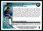 2010 Topps #457  Kanekoa Texeira  Back Thumbnail
