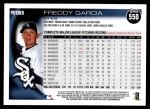 2010 Topps #550  Freddy Garcia  Back Thumbnail