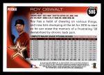 2010 Topps #586  Roy Oswalt  Back Thumbnail