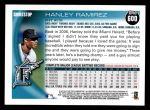 2010 Topps #600  Hanley Ramirez  Back Thumbnail