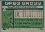 1977 Topps #614  Greg Gross  Back Thumbnail