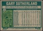 1977 Topps #307  Gary Sutherland  Back Thumbnail