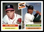 2005 Topps Heritage Then & Now #9 TN Bill Bruton / Carl Crawford  Front Thumbnail