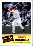 2005 Topps Heritage New Age Performers #10 NAP Manny Ramirez  Front Thumbnail