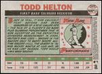 2005 Topps Heritage New Age Performers #11 NAP Todd Helton  Back Thumbnail